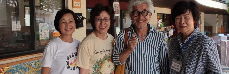 建川園長先生と会長、田川先生、竹屋ボランティア部長